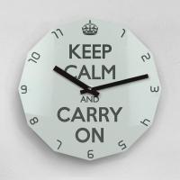 리플렉스 KEEP CALM AND CARRY ON 12각 무소음벽시계 KP12CMT