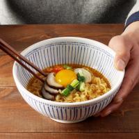 일본식기 블루레인 면기