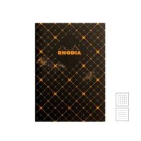 [로디아] 헤리티지 실제본 노트 A5 까뜨리유 블랙 (줄지/격자)