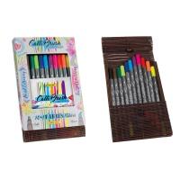 Calli.Brush Pens(Bamboo Case)