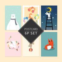 비프렌드v2 포스트카드 엽서세트 6p