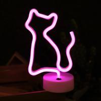 LED 네온전구 조명등 (고양이)