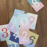 아이씨엘 number post card  set