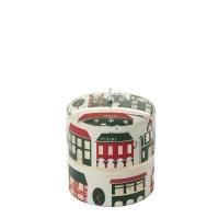 [페르니시] 윈터빌리지 데코 캔들 - 레드그린(11cm)