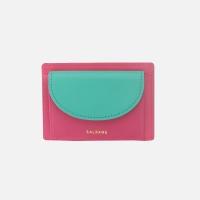 half circle card two-tone Strawberry Pink 하프써클 카드 투톤 스트로베리