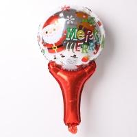 크리스마스 손잡이 은박풍선 (메리산타)