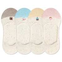 [쿠비카]아이스크림 배색 여성 실리콘 덧신양말 F239