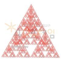 [G12521 4D프레임] 시에르핀스키 삼각형(정삼각 5단계)