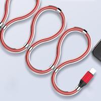 LDNIO 마그네틱 고속충전케이블 1m Type-C 레드