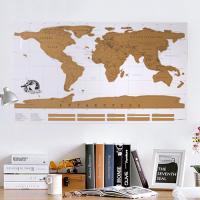 DIY 스크래치 화이트 세계지도 -독도는 우리땅 에디션