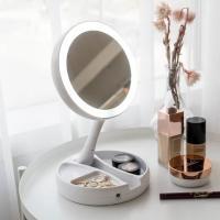 LED 조명 5배 확대 메이크업 수납 거울