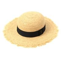BKMT Round Natural Raffia Hat