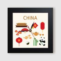 ct879-중국의아이콘_미니액자벽시계