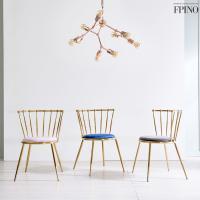퍼피노 시크벨벳 골드체어 디자인 식탁의자 rh078