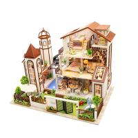 [adico]DIY 미니어처 풀하우스 - 브라운3층맨션