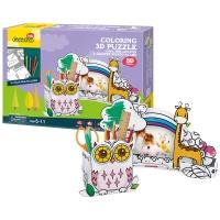 [3D퍼즐마을][P695h] 부엉이 연필꽂이와 기린 사진 액자 (Owl Pen Holder & Giraffe Photo Frame)