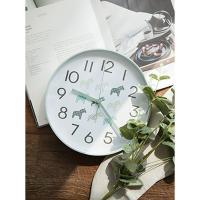 [필하임] 북유럽 라운드 저소음벽시계(민트)
