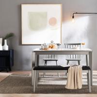 [채우리] 바움 세라믹 4인식탁세트(의자/벤치)
