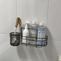 (와인앤쿡)네트형 흡착식 욕실선반 대형 1개