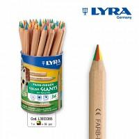 [리라] 칼라 자이언트 연필 4색 연필(낱개)