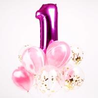첫돌 컨페티풍선세트(10개입) 핑크