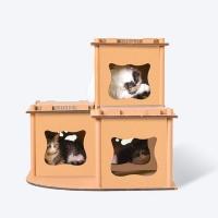 [봉봉펫닷컴] 고양이 3단 박스