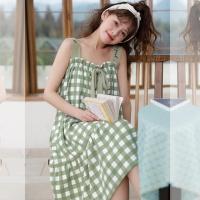 (4color)나시 원피스 면 잠옷 홈웨어