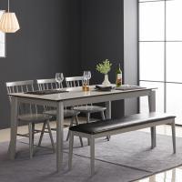 아르메 제니스 세라믹 6인 식탁세트(의자3+벤치1)