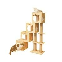 [봉봉펫닷컴] 고양이 미니룸 계단식 나무 캣타워 C