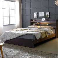 [보루네오 하우스] 아르메 엘피노 LED 일반형 침대 Q_밸런스 독립라텍스매트