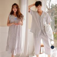 [쿠비카]인견 남성반팔 여성 민소매 커플 잠옷 WM183