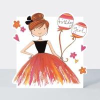 빨간풍선과 소녀 축하 카드 [CLOUD45]