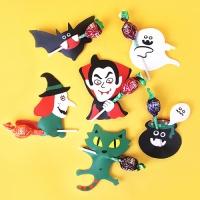할로윈 마녀와 백작 막대사탕 데코페이퍼 6개 (1set)