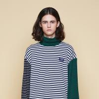 [어나더프레임] ANOTHER FRAME - MULTI STRIPE TURTLE NECK (NAVY) 터틀넥 폴라티