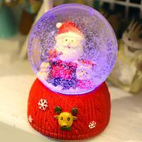 LED 오르골 워터볼 8CM 산타