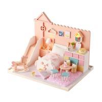 [adico]DIY 미니어처 하우스 - 핑크 캣 하우스