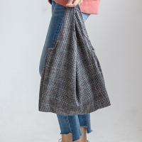 [F/W] W-15 히튼체크 캔버스백 숄더백 여성가방