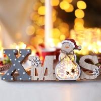 LED 크리스마스 우드스탠딩 (눈사람)