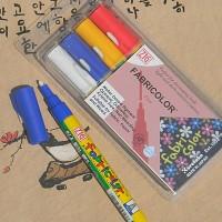 [Kuretake] 옷,신발,천에 그리는 직물마카-일본 쿠레다케 지그 패브릭마카 Fine 4색세트 F131-2
