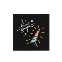 [인디고샵] [금박] 블랙 트윙클 유니콘 카드