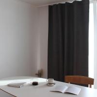 주조밍 내추럴톤 호텔 닮은 딥그레이 암막커튼