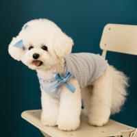 강아지옷 스윗봉봉 리본 블루티