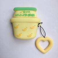 에어팟 1/2 귀여운 젤리 키링 케이스_바나나우유 266