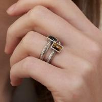dot stone ring