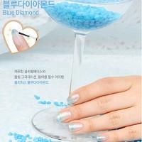그라데이션 네일아트 - 블루다이아몬드