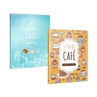 [무료배송] 마이 로맨틱 유럽 컬러링 스티커북 + 마이 스위트 카페 컬러링 스티커북 세트