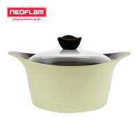 네오플램 에콜론 냄비 애니 24cm 양수 - 라이트그린
