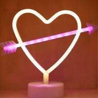 LED 네온전구 조명등 (하트화살 / 2색)