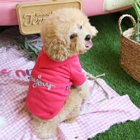 봉쥬르 팝 티셔츠-핑크