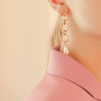 j-e19 - 3 line round pearl earring